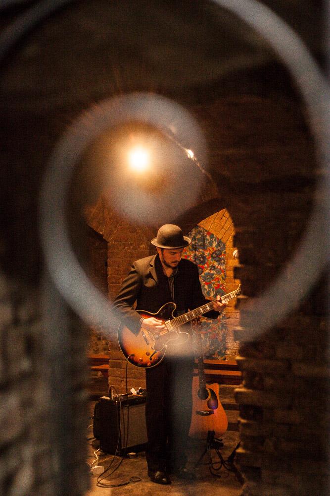 Show de blues no Espaço Alternativo da Fundação Cultural de Blumenau