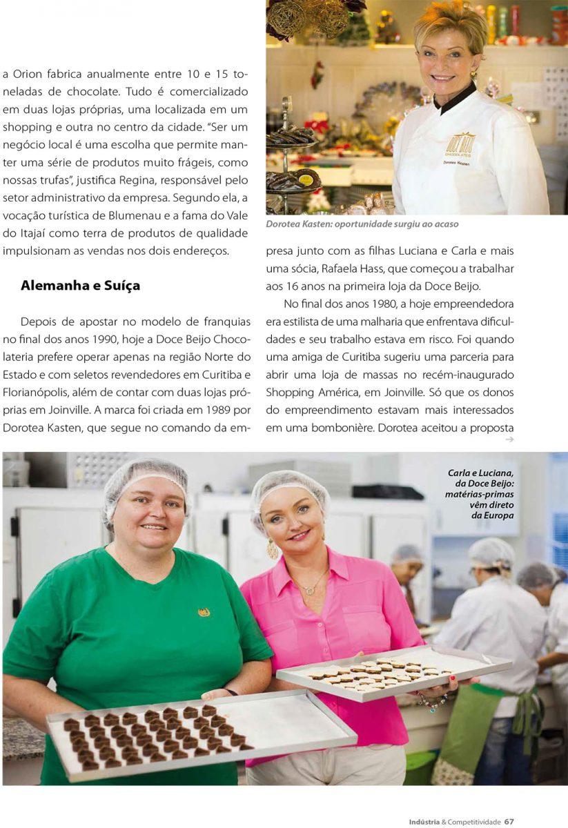 Retrato das irmãs prorprietárias da Doce Beijo, em Joinville