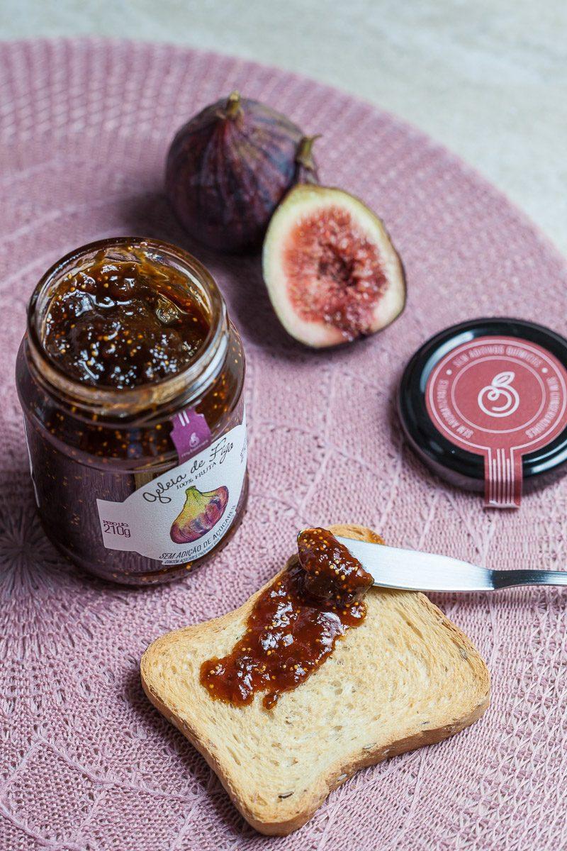 Geleia de Figo My Berries com torradinha