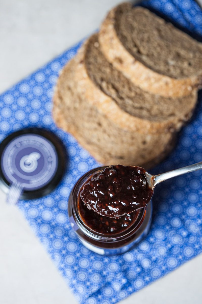 Artisan Jam with bread, My Berries