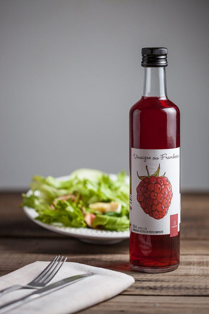 Vinagre de Framboesas em sugestão de harmonziação com salada